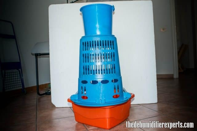 make a homemade dehumidifier step 4