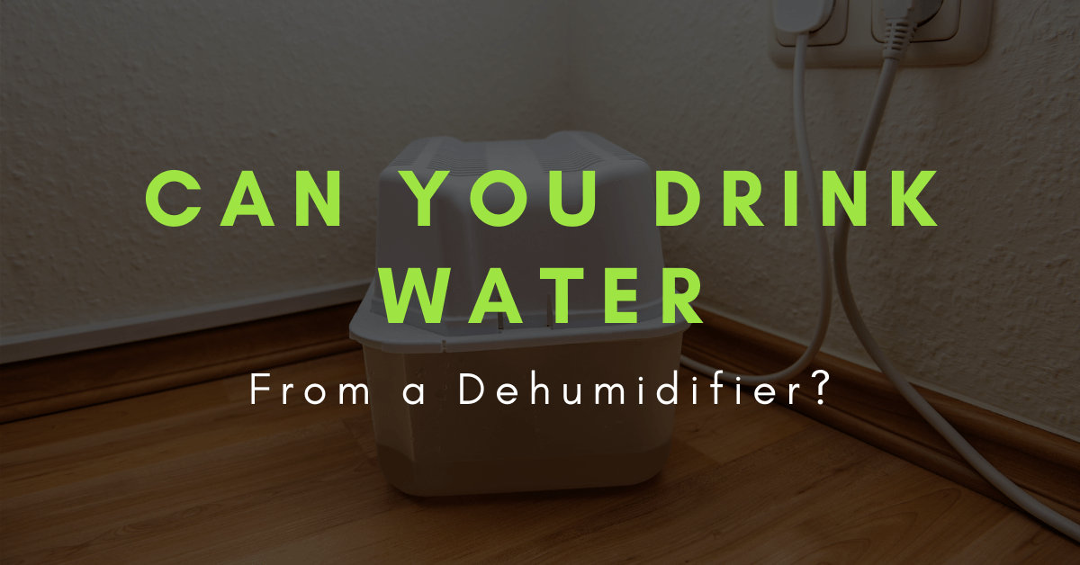 is dehumidifier water safe to drink