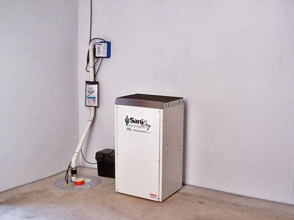 how to drain dehumidifier into sump pump