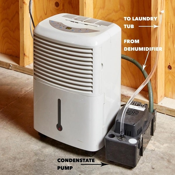 how to install condensate pump for dehumidifier